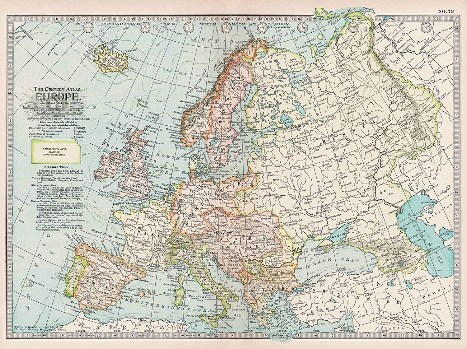 12 Map set of Europe NEW Reproduction Fun Atlas Vintage Antique Old Color Colour