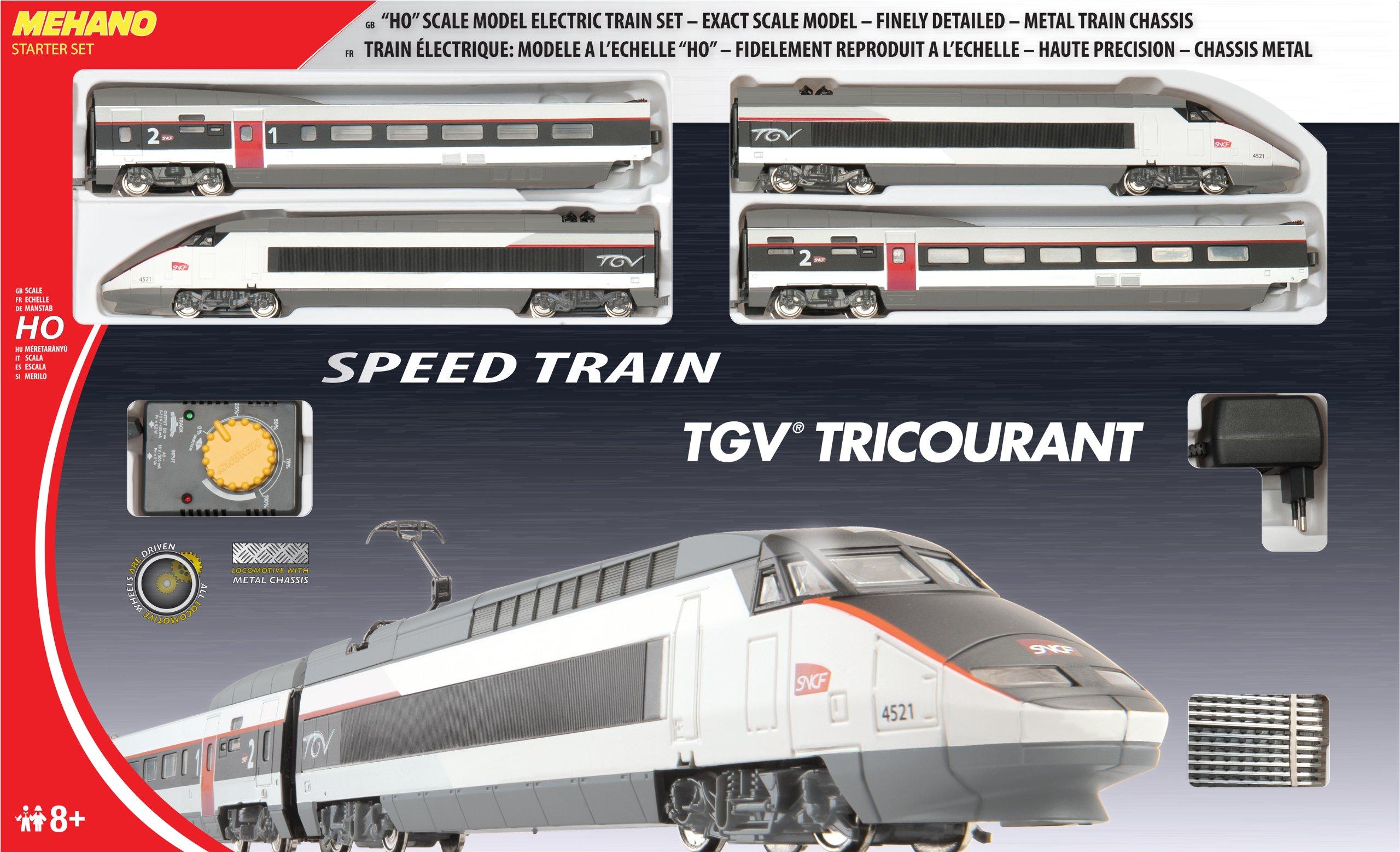 MEHANO TRAIN LINE - HO Scale Train Set - SPEEDTRAIN, TGV Tricourant SNCF