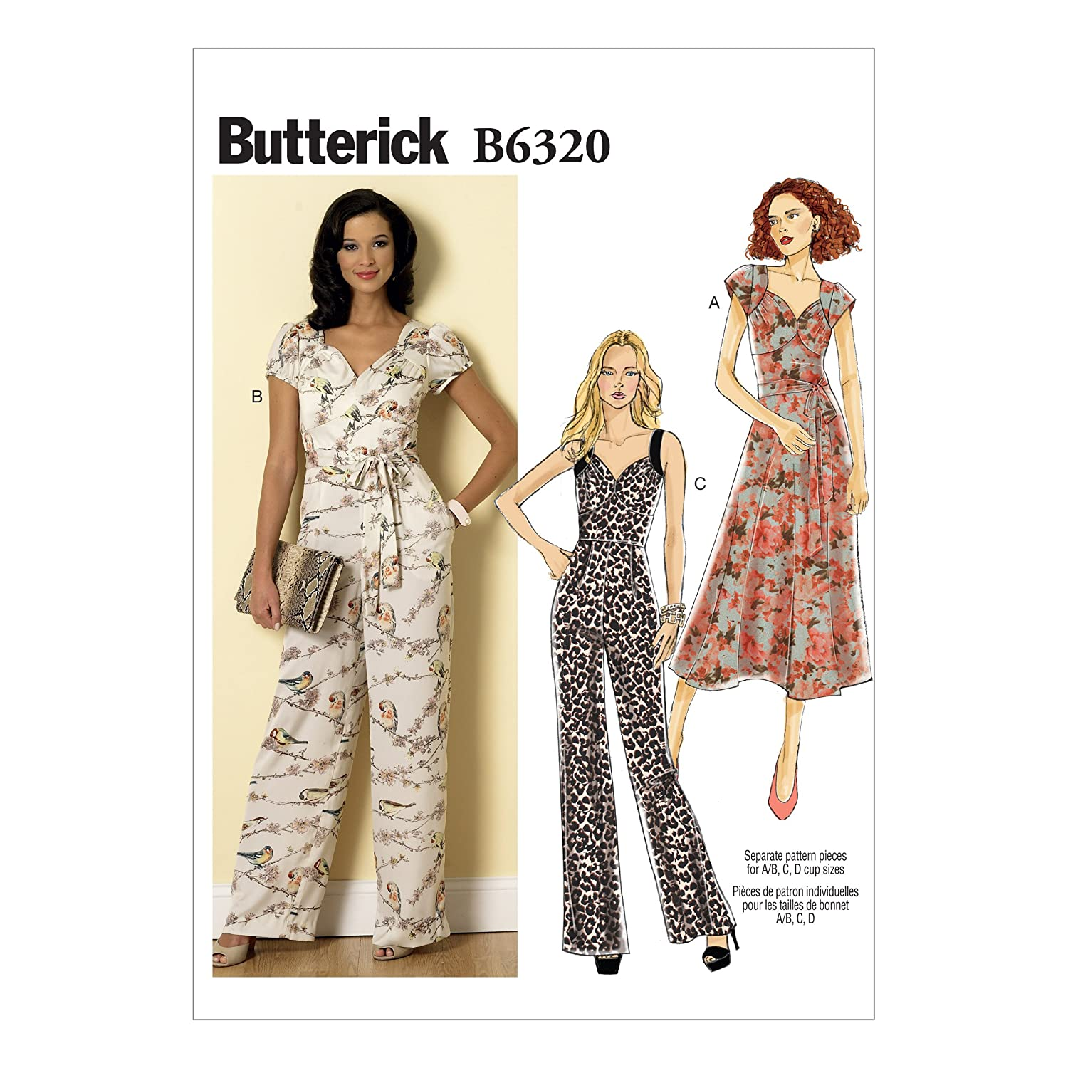 Butterick Pattern Misses Dress and Jumpsuit, Sizes 6-14 The McCall Pattern Company B6320A50