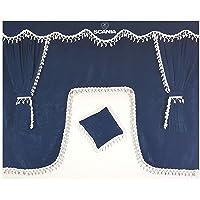 Juego de 5piezas de cortinas color azul en