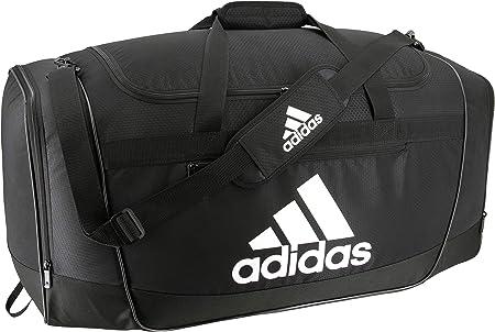 side facing adidas defender III duffel bag