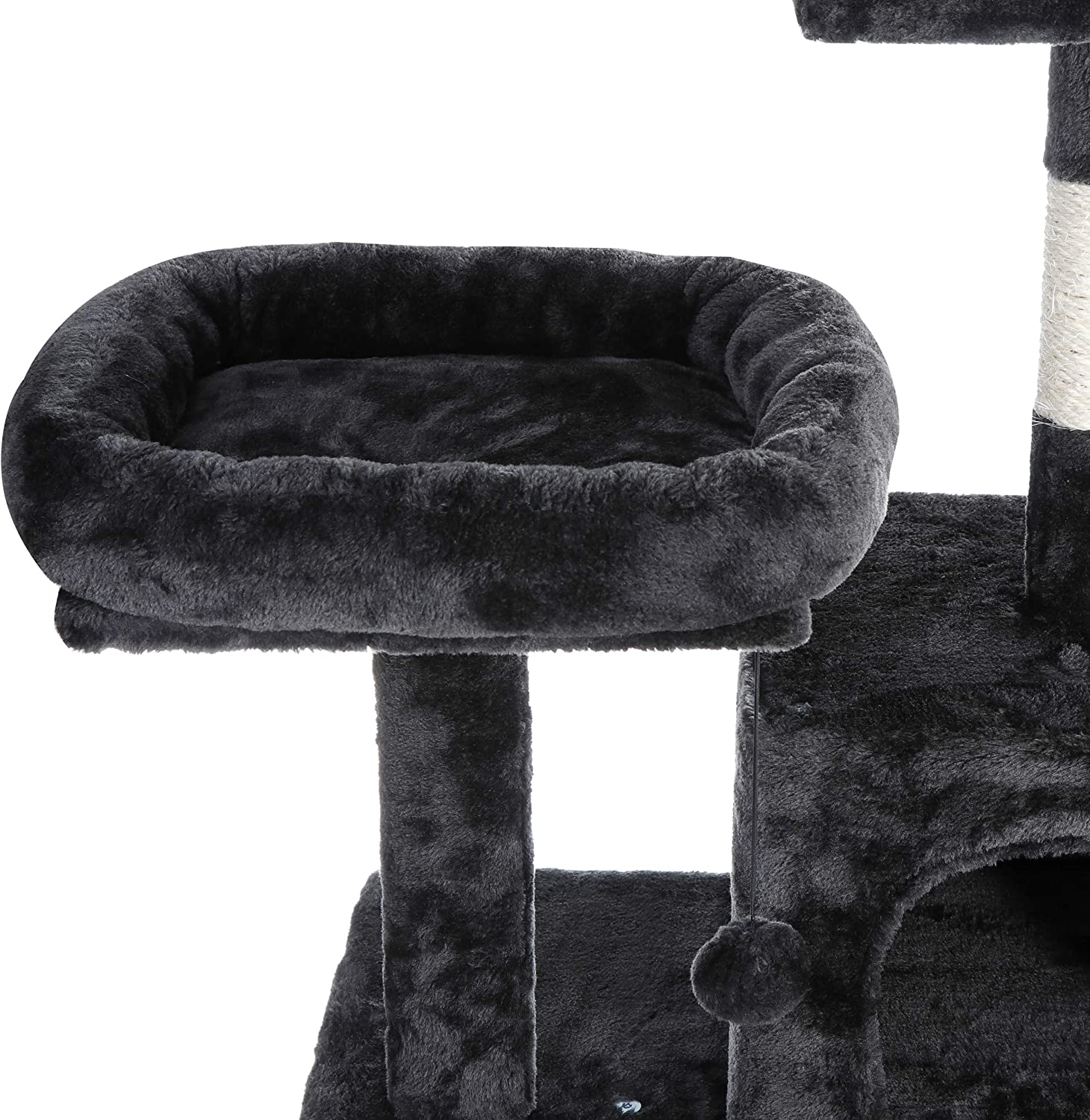 Nova Microdermabrasion 57.1 Multi-Level Cat Tree Tower with Scratching Posts Perch Hammock Pet Furniture Kitten Activity Tower Kitty Play House