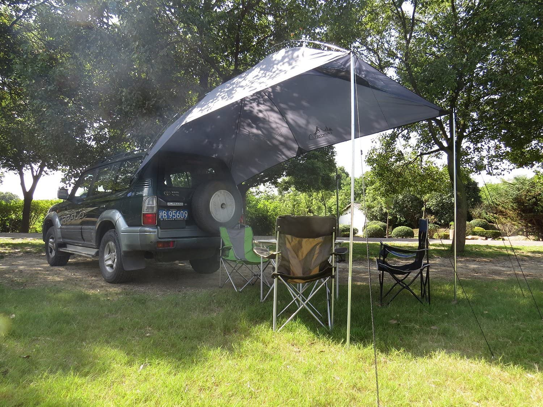 TOP-MAX – Toldo caravana remolque azoteas tienda playa Camping SUV camión coche accesorio de UV: Amazon.es: Jardín