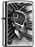 Zippo 2.005.057 Cyber punk crâne Collection Printemps 2016, chrome brossé
