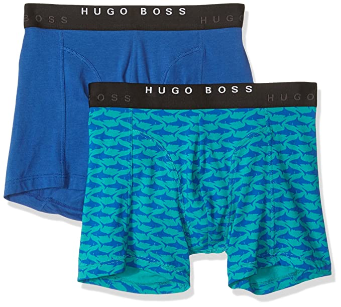 Hugo Boss 2P Print - Ropa Interior - S Hombres