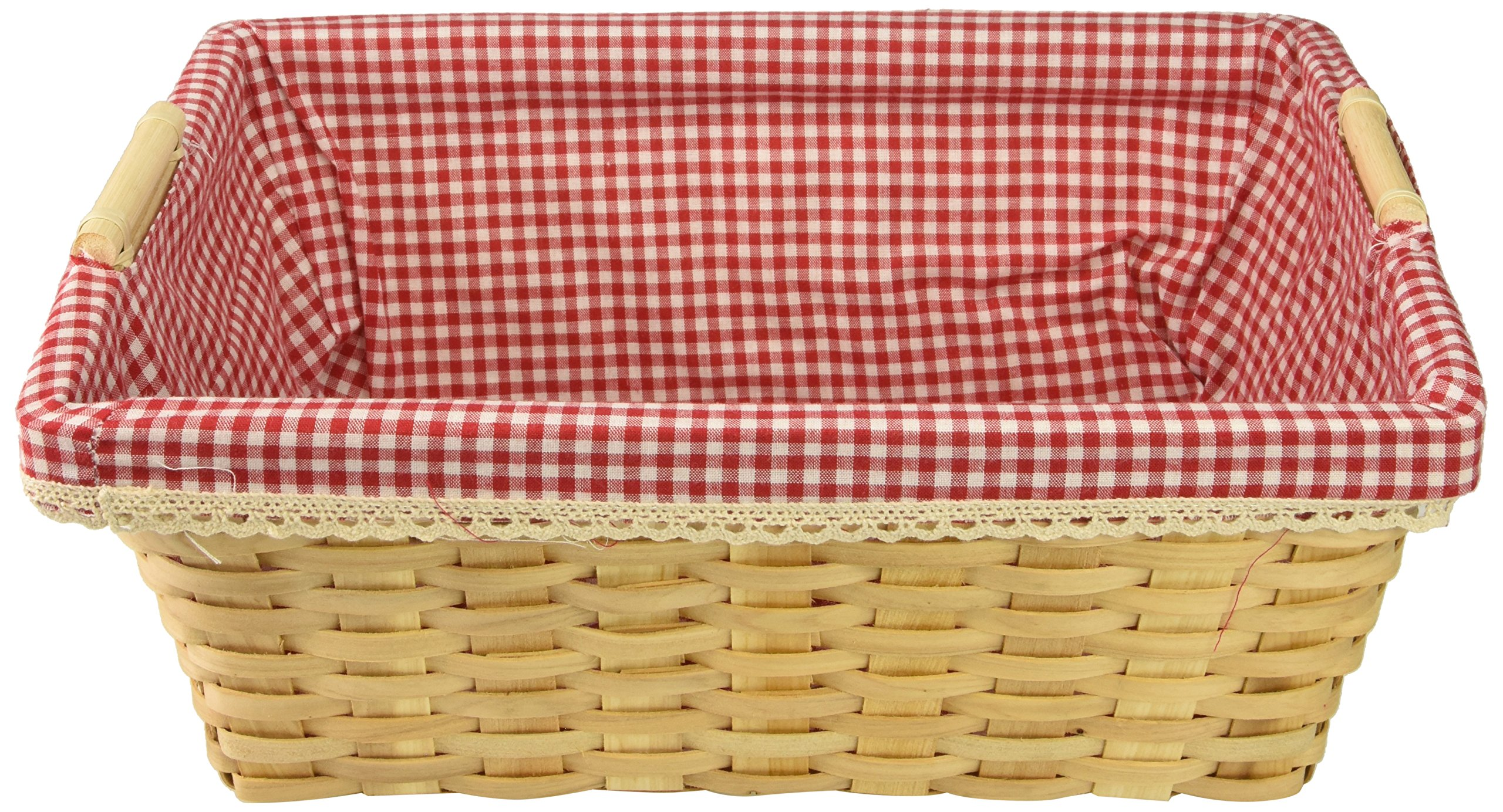 Vintiquewise(TM) Gingham Lined Baskets Set of 2 by Vintiquewise (Image #3)