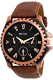 Matrix Analog Black Dial Brown Strap Men and Boys Wrist Watch-CPR-ARM-BK