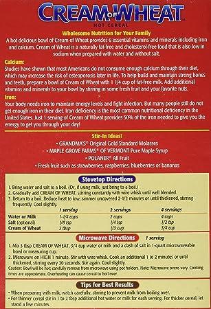 Amazon Cream Of Wheat Enriched Farina 25 Min 28 Oz Oatmeal