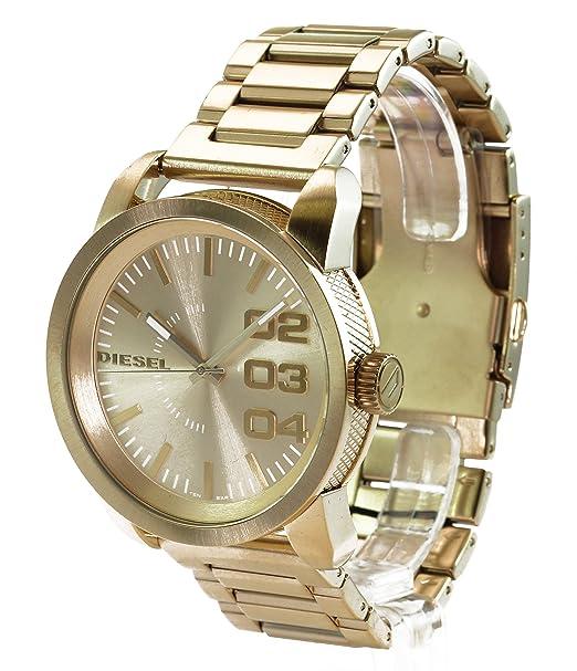 Diesel DZ1466 - Reloj de cuarzo para hombre, con correa de acero inoxidable, color dorado: Amazon.es: Relojes
