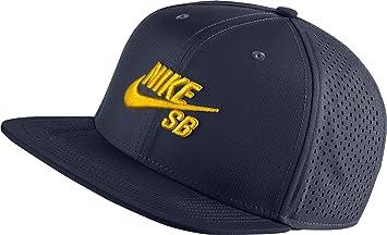 Nike U Nk Aero Cap Pro Gorra de Tenis, Hombre, Azul Obsidian/Black/Tour Yellow, Talla Única: Amazon.es: Deportes y aire libre