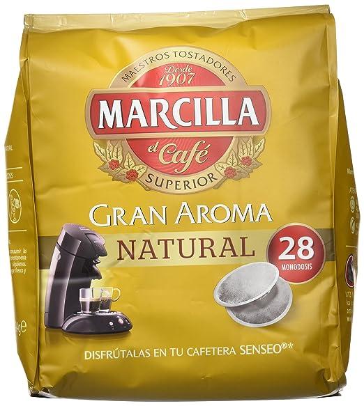 Marcilla Café Gran Aroma Natural - 140 Monodosis compatibles con las máquinas de café SENSEO®