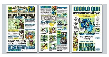 Tarjeta Felicitación Periódico cm.32 x 49