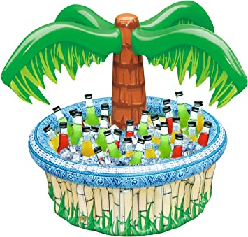 Jumbo Inflatable Palm Tree Hula Party Drinks Cooler