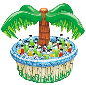 28 Inflatable Palm Tree Cooler Beach Theme Party Decor Party Supplies For Pool Party Luau Party And Hawaiian Party