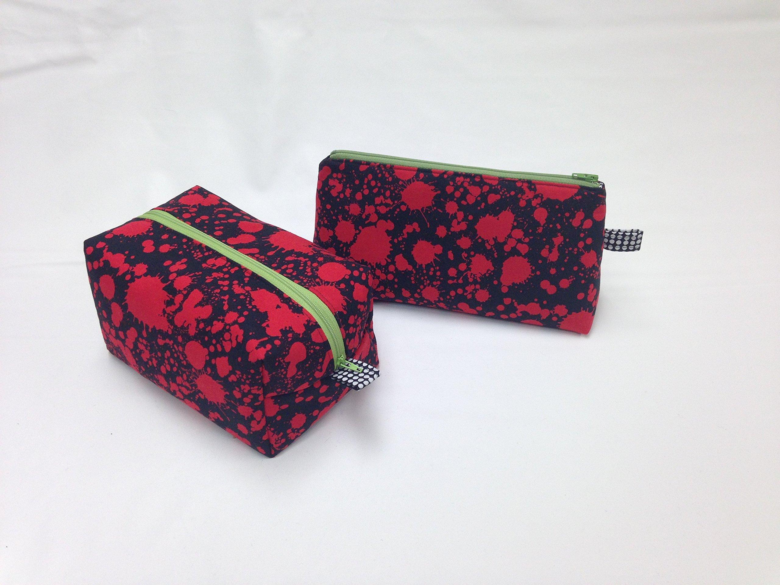 Red & Black Splat! Toiletry/Makeup Bag Set