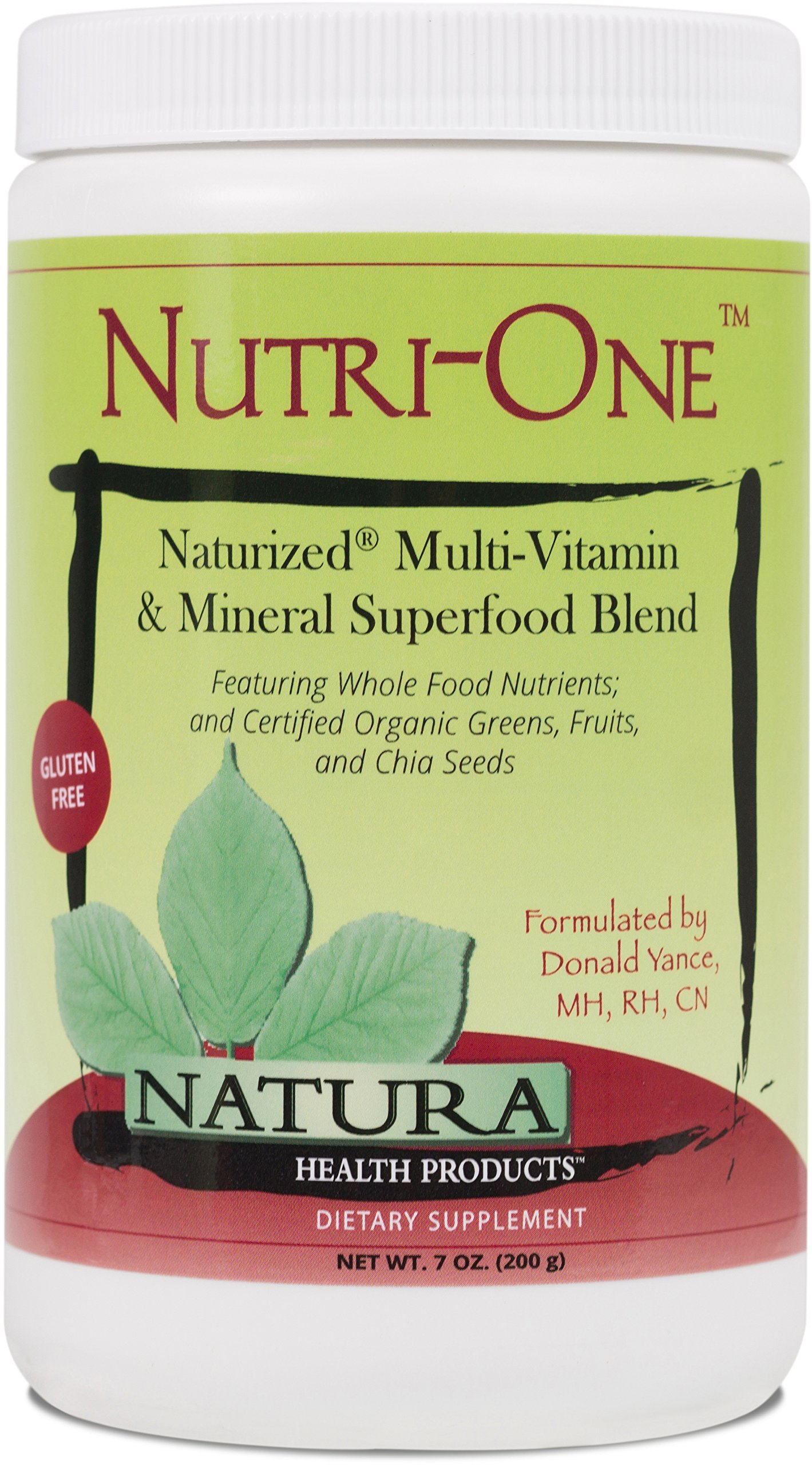 Natura Health Products - Nutri-One -Bioavailable Food-Grown Multi-Vitamin and Mineral Superfood Blend - 200 Grams (7 Ounces) Powder