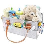 Flash Ecommerce Baby Diaper Caddy Organizer | Nursery Storage Bin Basket | Newborn Registry Must Haves | Boy Girl Diaper Storage Bin for Changing Table | Portable Car Travel Organizer