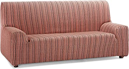 Oferta amazon: Martina Home Mejico - Funda de sofá elástica, Burdeos, 4 Plazas, 240 a 270 cm de ancho