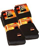 6 paia di calzini completamente termico da uomo nero, antracite e grigio