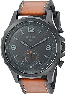 Amazon.com: Fossil Mens Commuter Stainless Steel Leather ...