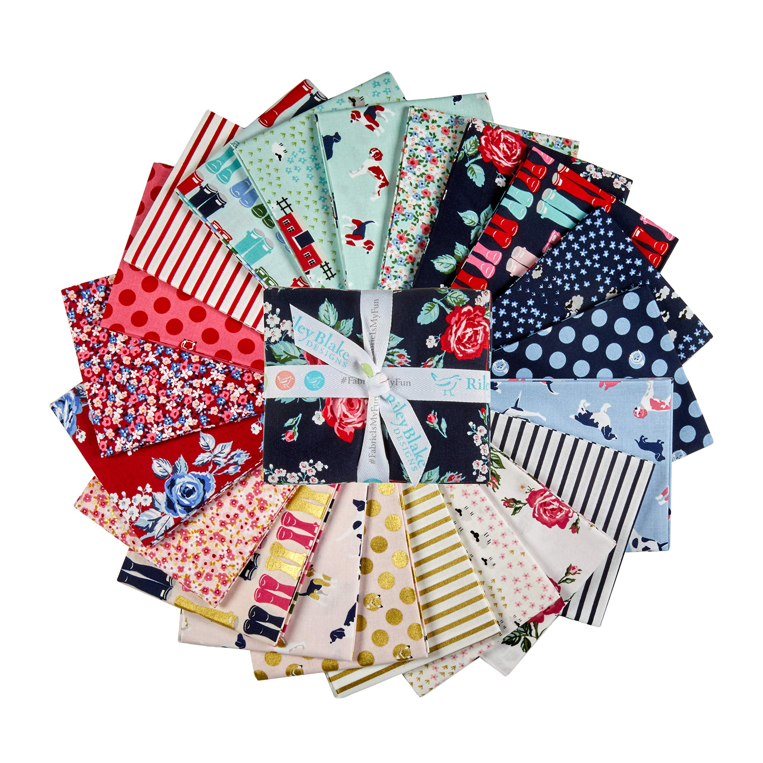 Riley Blake Designs Fox Farm Fat Quarter Bundle 21 Pcs. Multi