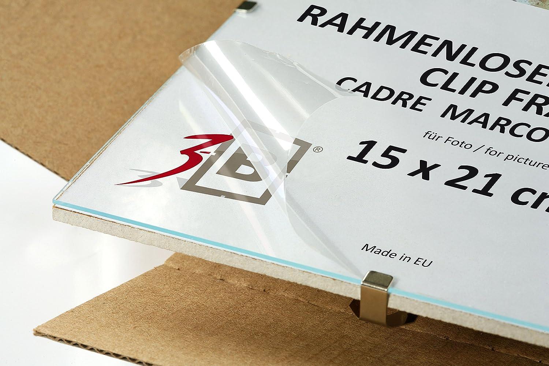 Amazon.de: 3-B Set 3 Stk. - CLIPRAHMEN 29, 7x42 cm (A3) - Rahmenlose ...