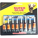 8 Pack SUPER GLUE CYANOACRYLATE Plastic Rubber Metal Ceramic Glass Leather