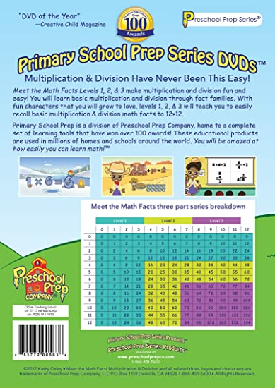 Amazon.com: Meet the Math Facts Multiplication & Division - 3 DVD ...
