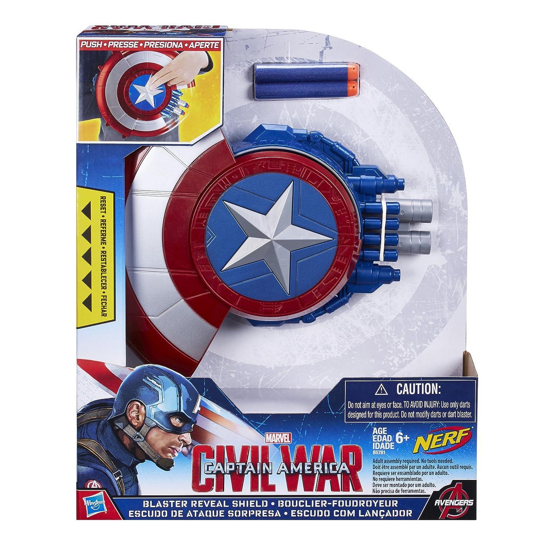 Amazon Marvel Captain America Civil War Blaster Reveal Shield Toys & Games