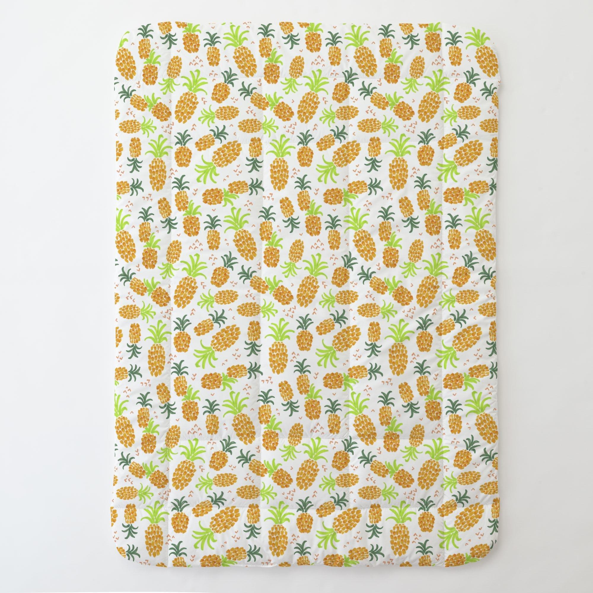 Carousel Designs Golden Pineapples Toddler Bed Comforter