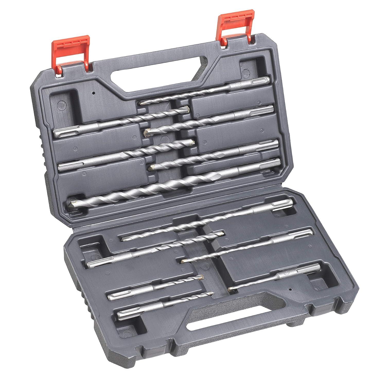 Juego de brocas para piedra y hormig/ón kwb 240280 SDS-Plus 12 piezas, en malet/ín de pl/ástico