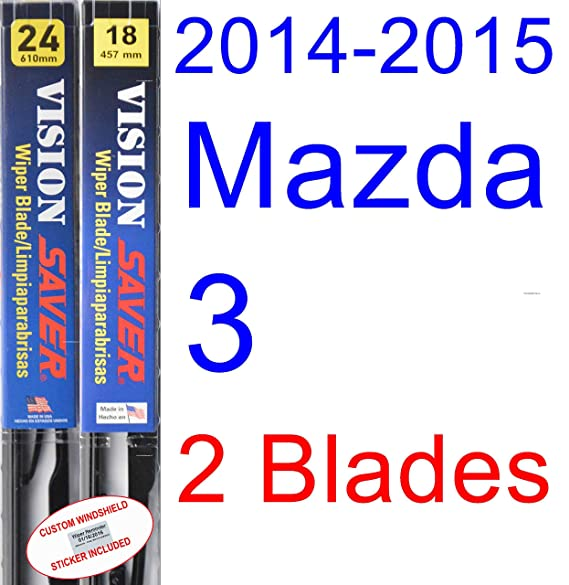Amazon.com: 2014-2015 Mazda 3 Wiper Blade (Driver) (Saver Automotive Products-Vision Saver): Automotive