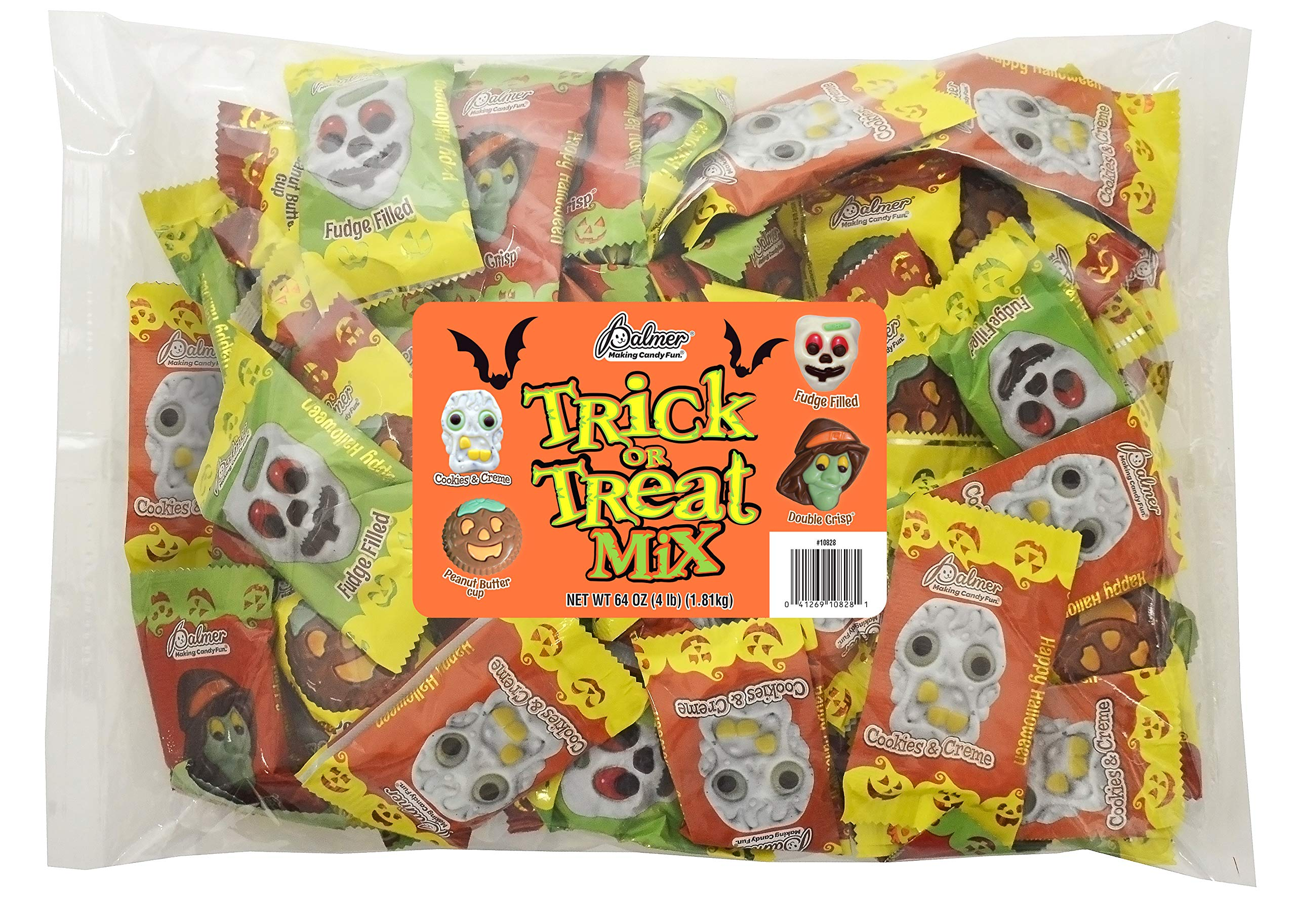 CDM product R.M. Palmer Trick or Treat Mix - Bulk Bag of Skeletons, Witches, Zombies, and Pumpkin Shaped Halloween Themed Treats, Candy, and Snacks (4 LB) big image