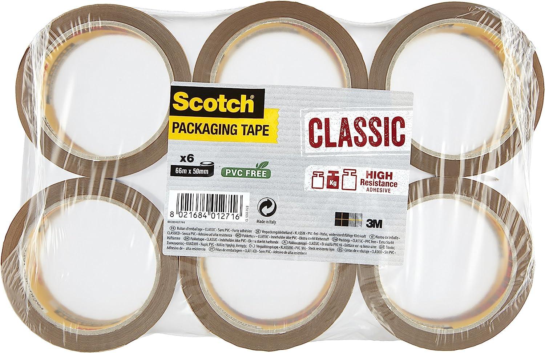 Clear Pack of 3 Triplast 48 mm x 66 m Heavy Duty Vinyl PVC Parcel Packing Tape