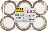 Scotch CL5066.F6.B Packing Tape - Brown Packaging Tape, 6 Rolls, ideal brown tape for boxes and parcels