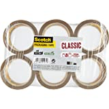 Scotch Packing Tape - Brown Packaging Tape, 6 Rolls, ideal brown tape for boxes and parcels