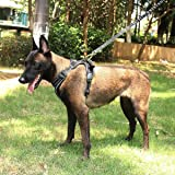 Dog Harness, MixMart Front Range Vest Harness No Pull Pet Harness 3M Reflective Vest with Handle and Two Leash Attachments for Outdoor Adventure (Black)