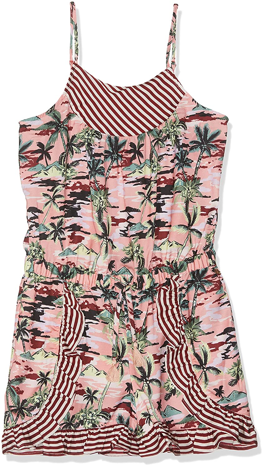MultiCouleure (Combo H 587)  Scotch & Soda Drapey Woven Print Mix Playsuit with Ruffles Salopette Fille