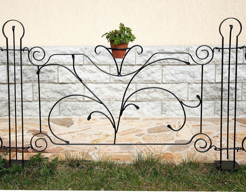 """DanDiBo Designer Gartenzaun """"Dekor"""" Zaunelement 90 cm Zaun Metall"""