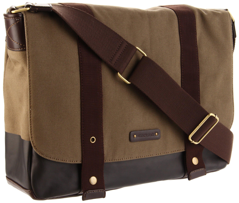 Storksak Aubrey Messenger Bag, Khaki Chocolate