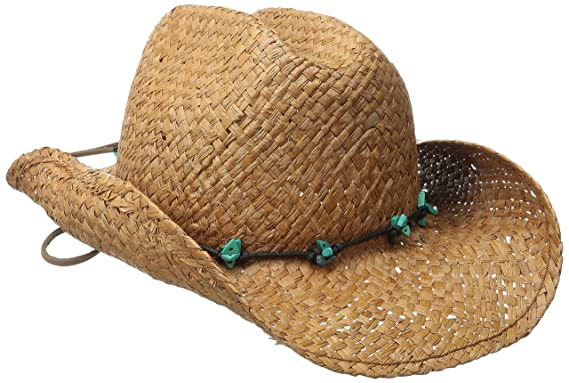 72afea9ffe7993 SCALA Women's Raffia Western Hat, Chocolate One Size at Amazon Women's  Clothing store:
