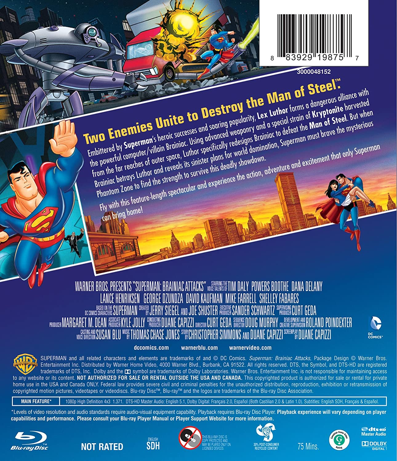 Superman:_Brainiac_Attacks [Alemania] [Blu-ray]: Amazon.es: Superman: Cine y Series TV