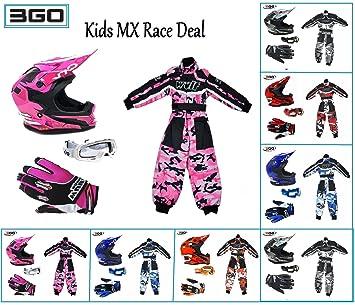 MX Race Deal 2018 - Casco de 3 GO XK188 para niños con ...