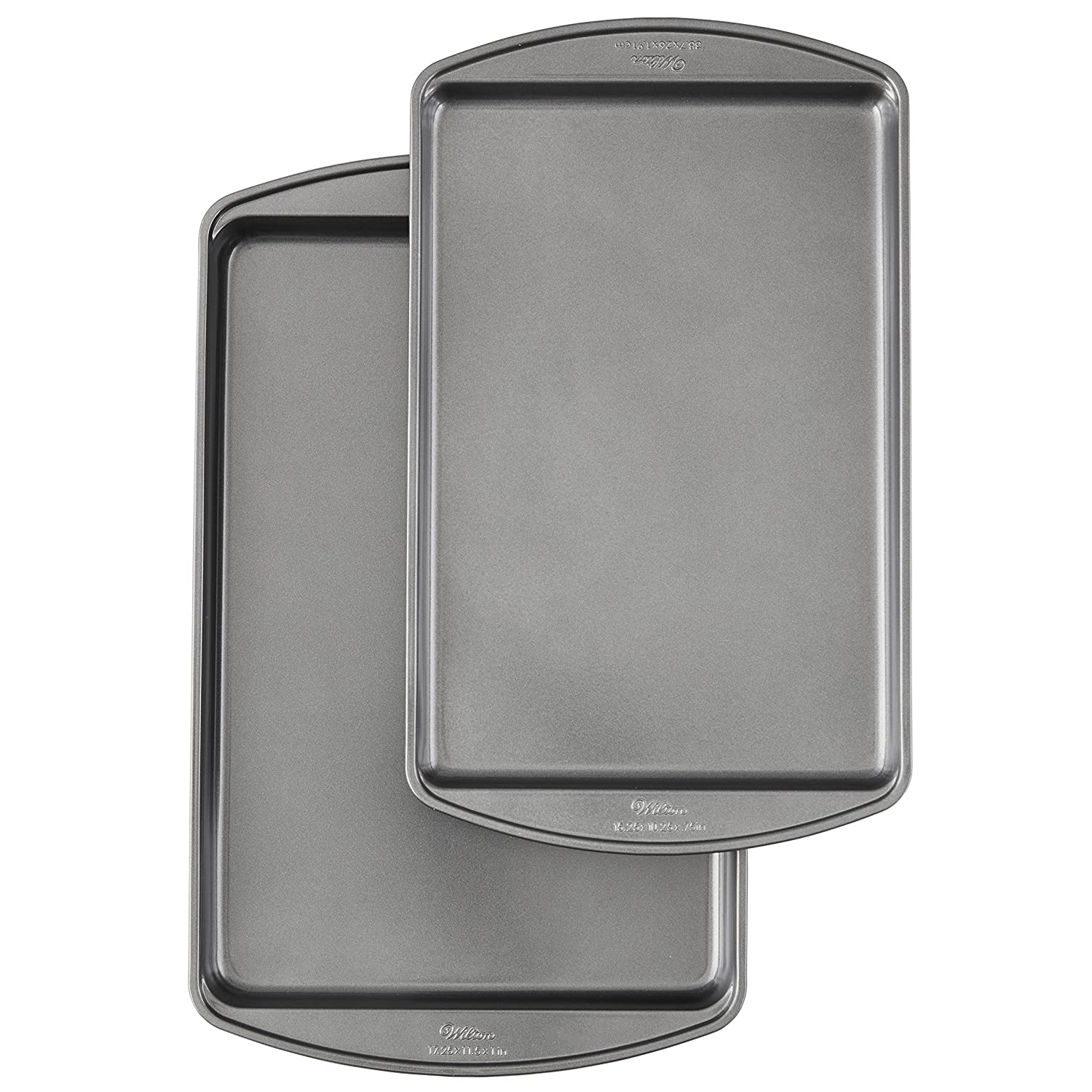 Wilton Perfect Results Premium Non-Stick Bakeware Cookie Baking Sheets Set, 2-Piece 2105-6900