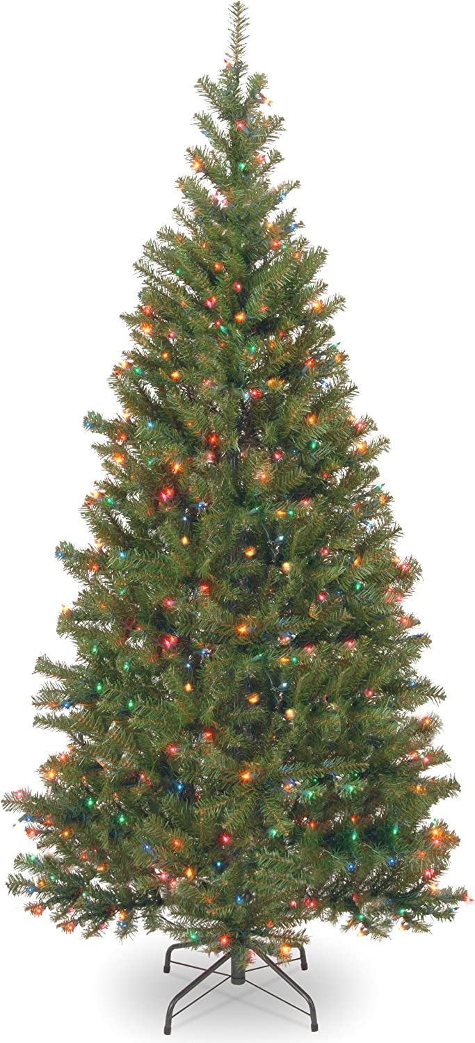 National Tree 7 Foot Aspen Spruce Tree with 400 Multicolor Lights (AP7-301-70)