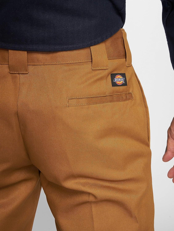 Dickies 873 Slim Etero Lavoro da Uomo Pantaloni Chino-Dark Navy Tutte Le Taglie