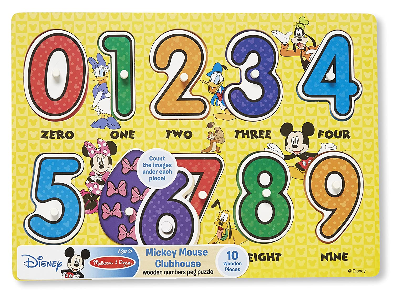 amazon com melissa u0026 doug disney mickey mouse clubhouse numbers