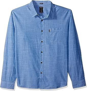 Dickies Mens Long Sleeve Regular Fit Chambray Shirt ...