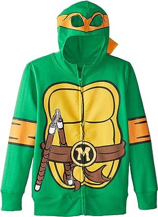 Nickelodeon Big Boys Teenage Mutant Ninja Turtles Costume Hoodie, Shell Green, Large