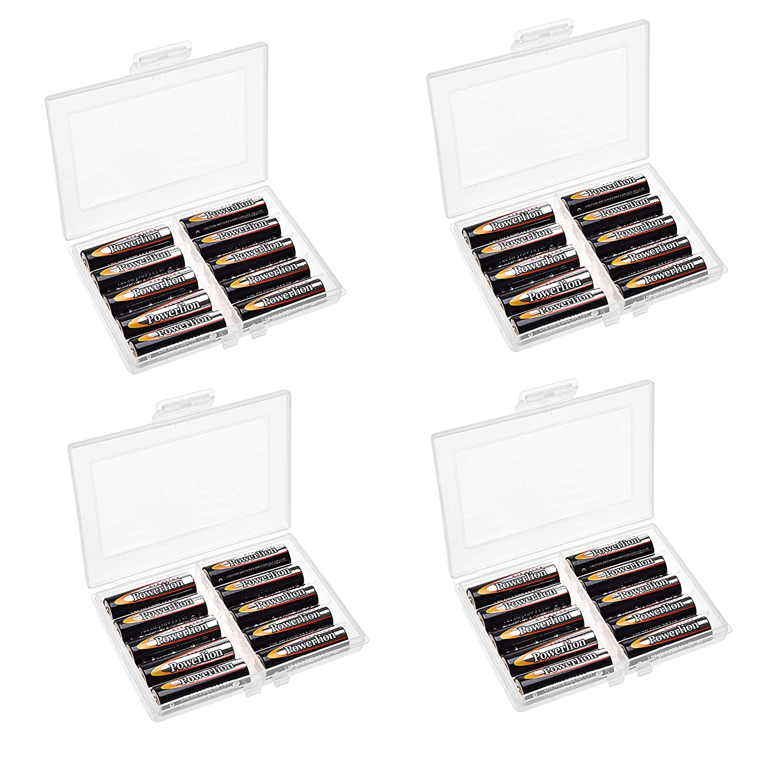 C 9 Volt Sizes COOMATEC Battery Storage Organizer Box Great Storage for Kitchens Hinged Lid for AA Holds 47 Batteries Various Sizes D AAA 5 Compartments Home Offices and Utility Rooms